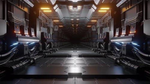 High-Tech Sci-Fi Corridor Loop