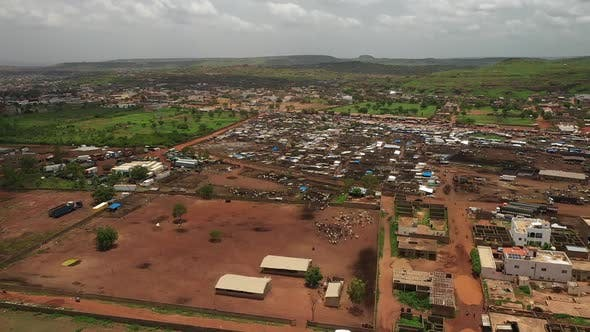 Thumbnail for Africa Mali Village And Ox Aerial View 2