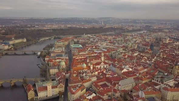 Thumbnail for Czech Republic Prague Aerial Drone Flying