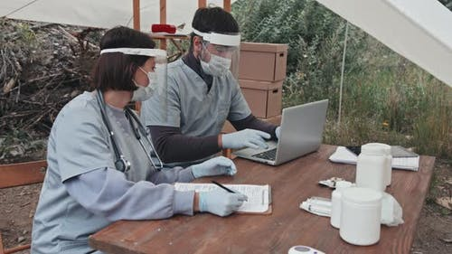 Medical Workers at Refugee Camp