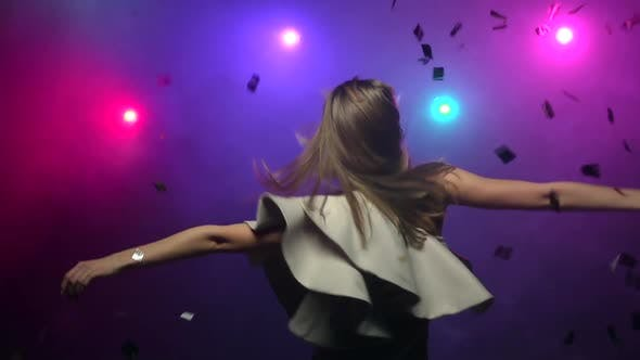 Thumbnail for Girl Dancing Making Head Movements, Close-up, Slow Motion