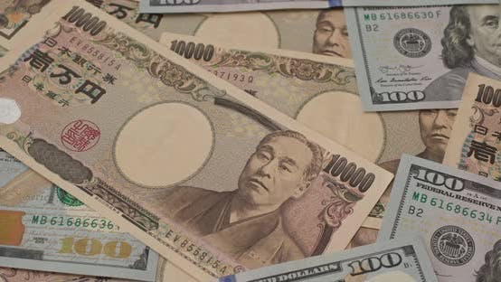Japanese yen and USD