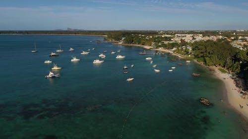 Beautiful Bird'seye View of a Tropical Island