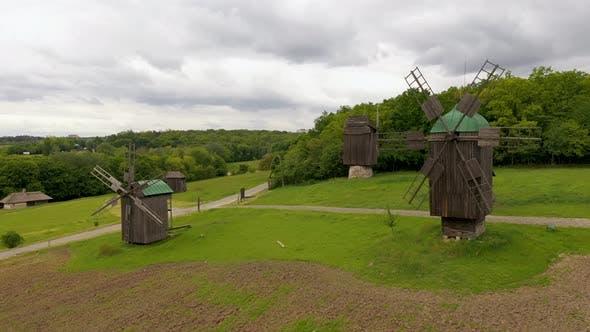 Wooden Windmills