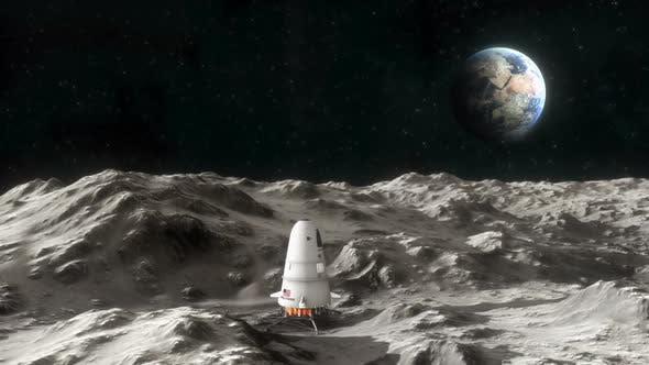 Thumbnail for Spaceship on the Surface of the Moon 1