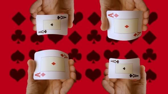 Thumbnail for hand holding cards at casino gambling