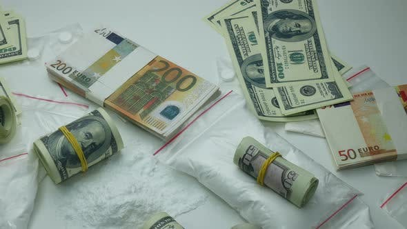 Thumbnail for Criminal Money Profit Of The Drug Cartel From The Sale Of Cocaine And Tablets