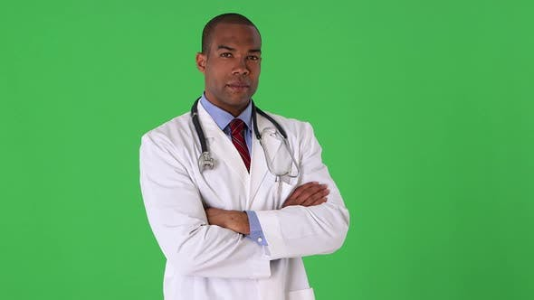 Portrait of young male  doctor