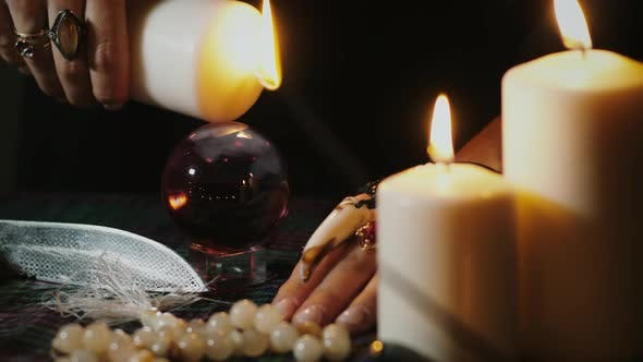 Thumbnail for Mystic ritual with crystal ball