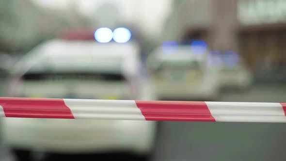 Thumbnail for Police Barrier : Warning Police Tape at the Crime Scene.