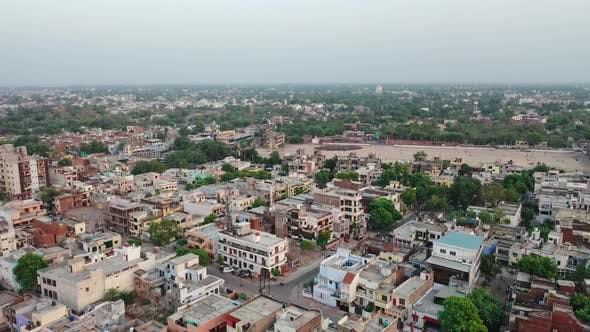 Thumbnail for Aerial Shot of Densely Populated City Of Taj , Agra , Uttar Pradesh, India