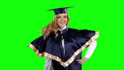 Graduate. Green Screen