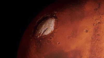 Looped Mars Polar Cap