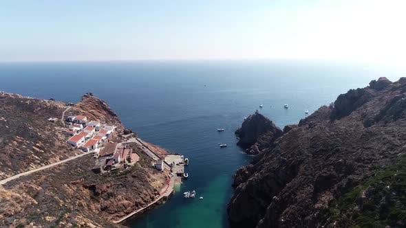 Thumbnail for Flying Over Beautiful Island of Berlengas in Portugal