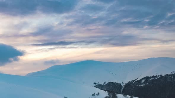 Beautiful Mountain Sunny Evening Mountain Under Sky