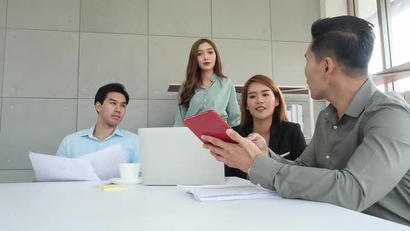 Business people meeting and planning