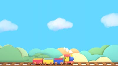 Toy Train And Blue Sky