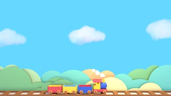 Thumbnail for Toy Train And Blue Sky