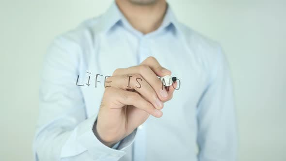 Thumbnail for Life Is Now, Writing On Screen