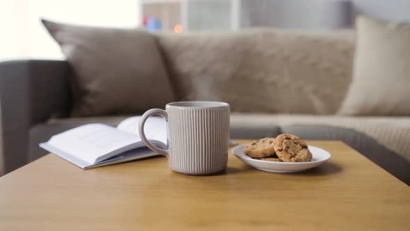 Thumbnail for Chocolate Oatmeal Cookies and Mug with Hot Drink