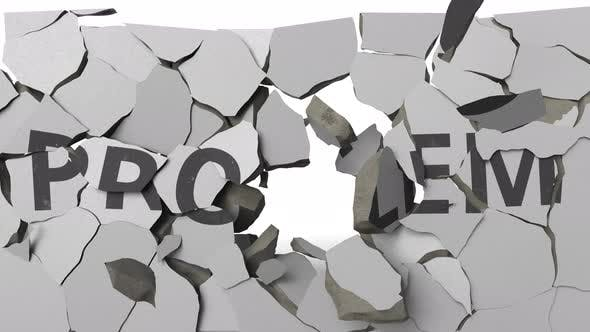 Thumbnail for Breaking Concrete Wall with Painted PROBLEM Word