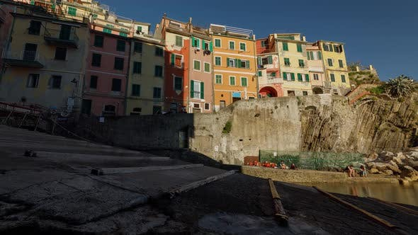 Thumbnail for Time Lapse of the beautiful and scenic seaside village of Riomaggiore in Italy