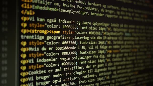 Thumbnail for Digital Html Code Background