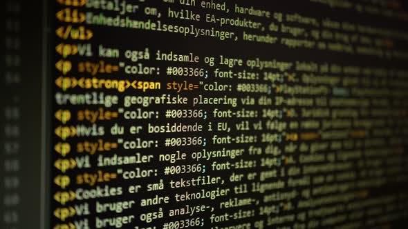 Digital Html Code Background