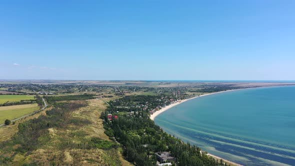 Thumbnail for The coast of the Azov Sea. Aerial view of the coastline
