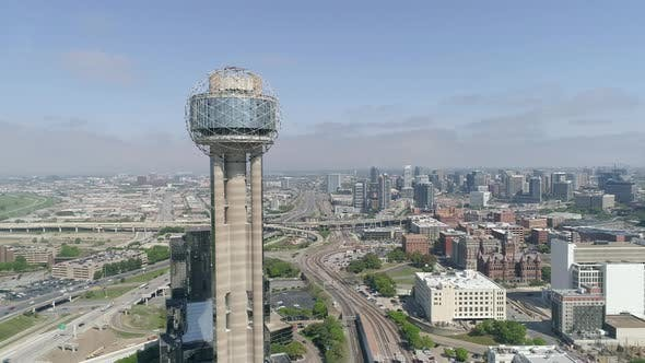 Thumbnail for Aerial view of the Reunion Tower, Dallas
