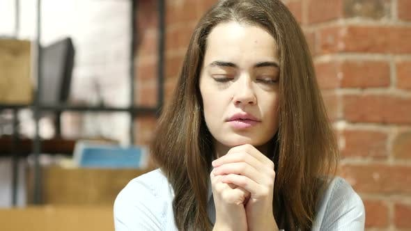 Thumbnail for Woman praying  for Forgiveness, Indoor