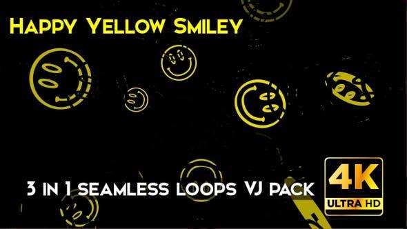 Thumbnail for Happy Yellow Smiley VJ Loops