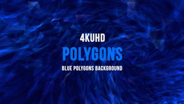 Thumbnail for Blue Polygons Background  4K UHD 06