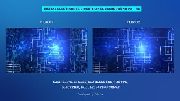 Thumbnail for Digitale Elektronik Schaltungsleitungen Vertikal 4k bewegen - 2 Clips