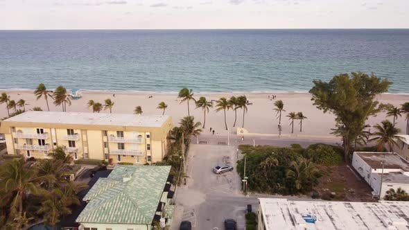 Thumbnail for Hollywood Beach Fl Usa Shot With Aerial Drone Tour 4k