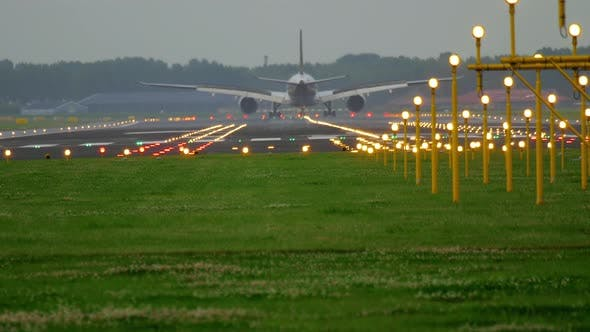 Thumbnail for Airplane Landing at the Early Morning