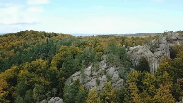 Thumbnail for Western Ukraine Dovbush Rocks From A Bird Flight Altitude 2.