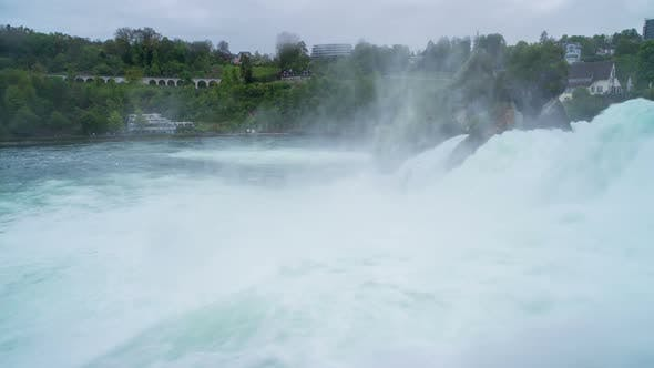 Thumbnail for Another Morning View with Powerful Rhine Falls