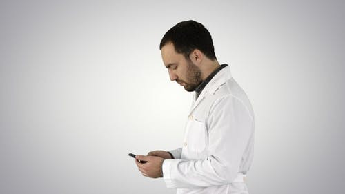 Closeup portrait of handsome male health care professional