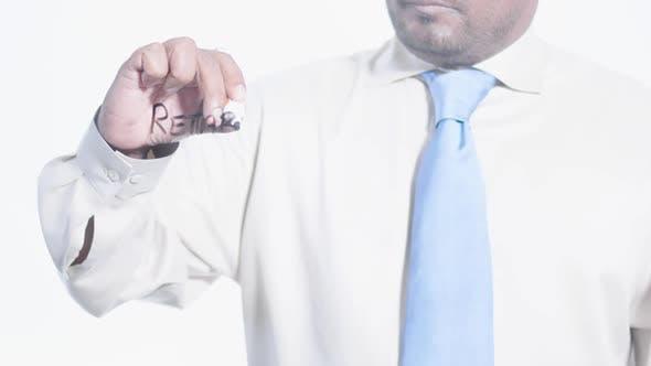 Latino Businessman Writes Retard