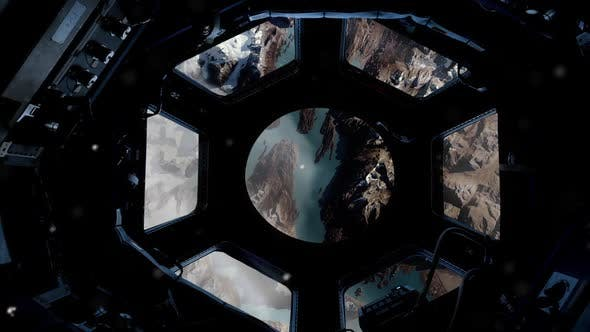 Thumbnail for Glaciers and the Andes Mountains through the Porthole of the ISS.