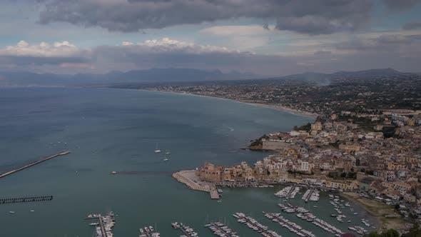 Castellammare Del Golfo Coast Sicily Italy Port Harbour
