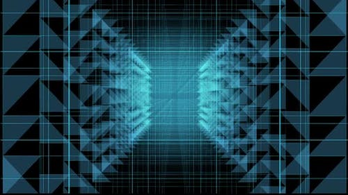 Temporal portal covered with square grids