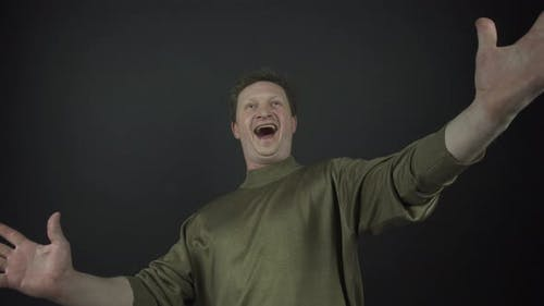 Experienced Actor Performs Emotions of Happiness at Audition