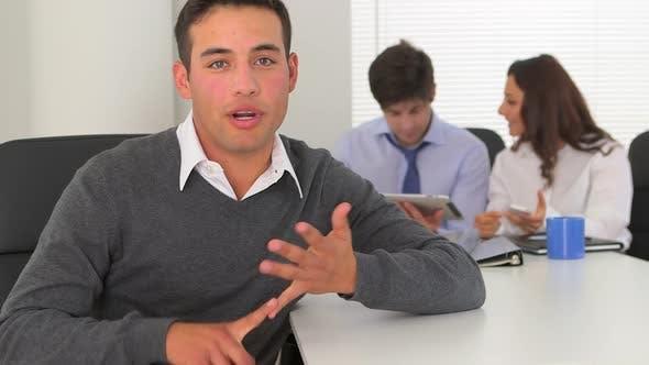 Thumbnail for hispanic businessman talking