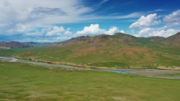 Thumbnail for Steppe and Mountains Landscape in Orkhon Valley