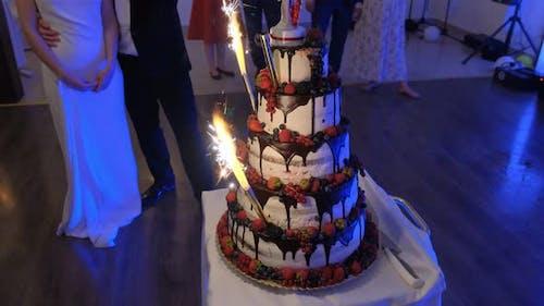 Beautiful Appetizing Wedding Cake
