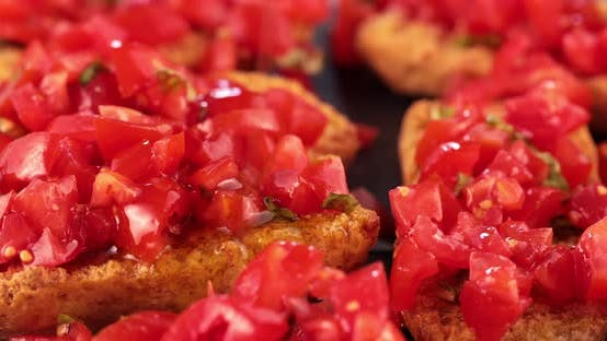 Thumbnail for Plate with bruschetta