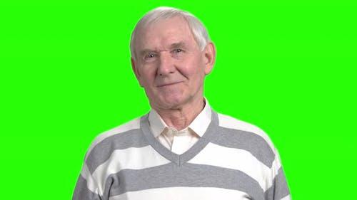 Expressions faciales du vieux grand-père.