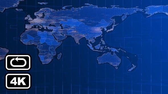 Thumbnail for News World Map Front Bg Loop 4k V1
